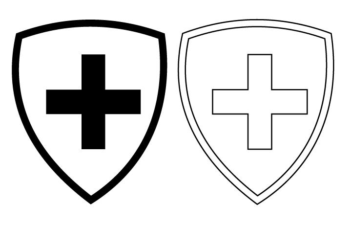 Comment repeindre un logo effacé ? Blason